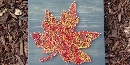 Fall Leaf String Art Craft