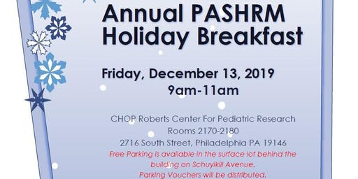 Annual PASHRM Holiday Breakfast