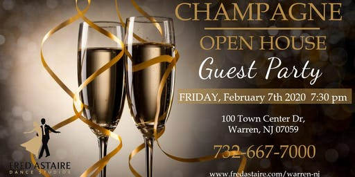 Champagne Open House Guest Party - Free of  Charge