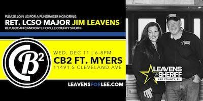 Fundraiser Honoring Ret. Major Jim Leavens, Candidate Lee County Sheriff