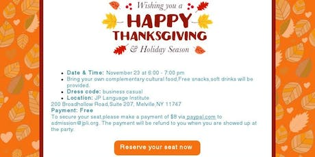 Be thankful - Celebrate Thanksgiving Day tickets