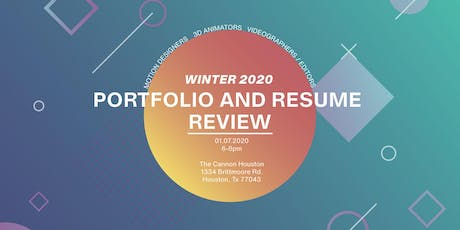 Portfolio and Resume Review for Animators, Motion Designers & Videographers tickets