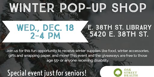 Winter Pop-Up Shops at Public Libraries