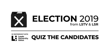General Election 2019: Quiz the Candidates tickets