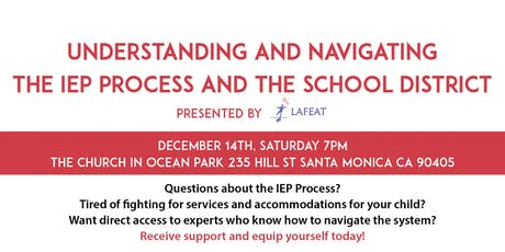 Understanding and Navigating the IEP Process and the School District tickets