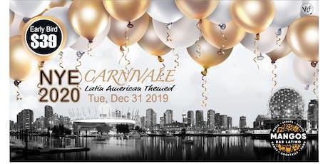 "NYE 2020 Carnivale ""Viva Vancouver"" tickets"