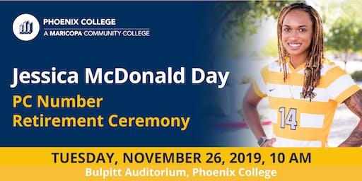 Jessica McDonald Day PC Number Retirement Ceremony
