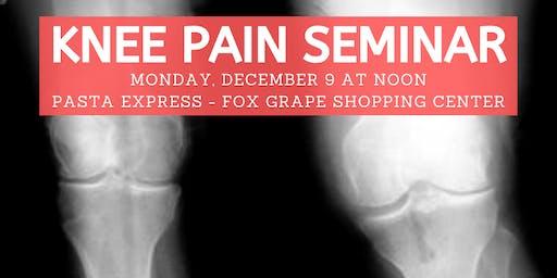 Ozzie Smith Center KNEE Pain Seminar - Dec. 9