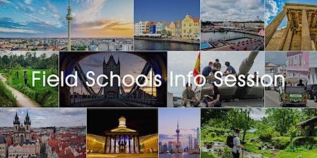 Summer 2020 - Field Schools Information Session (January) tickets