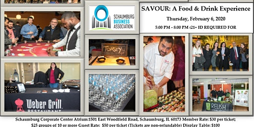 Savour: A Food and Drink Experience    The Networking Event of the Year!