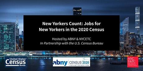 New Yorkers Count: Jobs for New Yorkers in the 2020 Census tickets