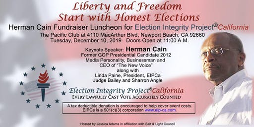 Herman Cain Fundraiser Luncheon for Election Integrity Project California