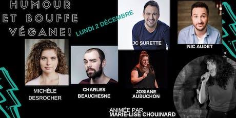 Humour et bouffe végane / Antidote : 2 décembre tickets