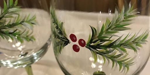 Holiday Wine Glass Paint + Sip