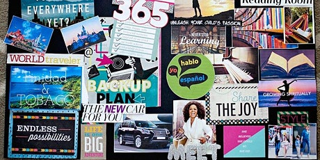 Vision board with Yoga & Meditation tickets