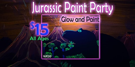 Jurassic Paint and glow Party all ages tickets