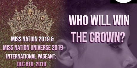 MISS NATION UNIVERSE 2019 tickets