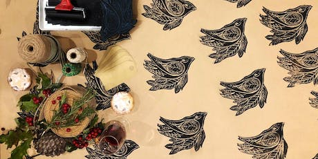 Festive Wrapping work shop! Design & Lino print your own wrapping paper! tickets