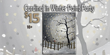 Cardinal in Winter Paint Party 1/8/20 7 pm tickets