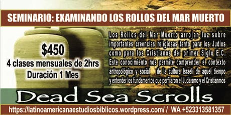 Seminario Web: Los Manuscritos del Mar Muerto tickets