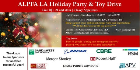 ALPFA LA Holiday Party & Toy Drive tickets