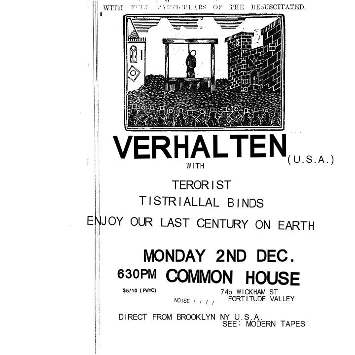 Verhalten (USA) & Special Guests - Live at Common House, Mon. 2nd Dec 2019 image