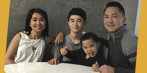 Viet Thanh Nguyen, Thi Bui, and Their Sons, Ellison and Hien