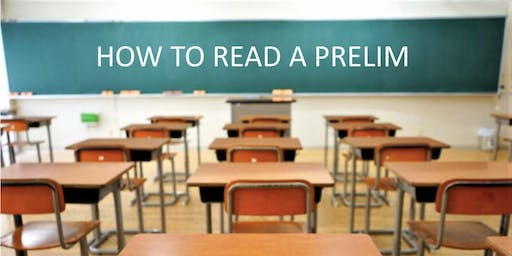 CE Class how to read and understand the preliminary title report