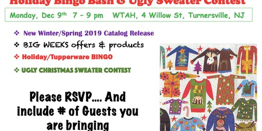 Holiday Bingo Bash & Ugly Sweater Contest - Tupperware Style