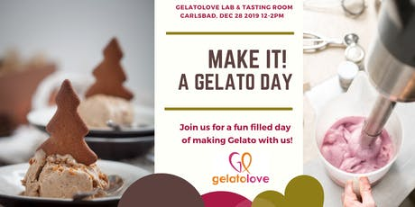 Make Gelato with Us.  What a Holiday Gift! tickets