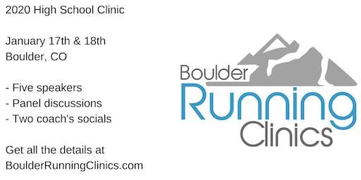 Boulder Running Clinics - January 2020 High School Clinic