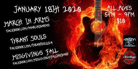 Krazy1 Promotions presents March In Arms,Tyrant Souls tickets