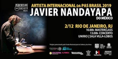Masterclass com Javier Nandayapa (Rio de Janeiro, RJ) tickets