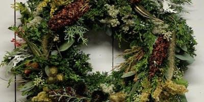 Wreath Workshop at Botanical Cafe