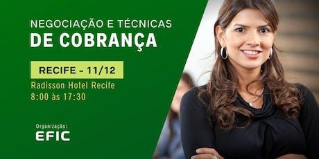 Negociação e Técnicas de Cobrança em Recife ingressos