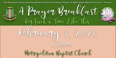 Omicron Xi Omega Chapter's EAF Prayer Breakfast 2020
