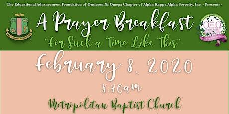 Omicron Xi Omega Chapter's EAF Prayer Breakfast 2020 tickets