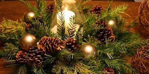 Greenery Christmas Centerpiece!