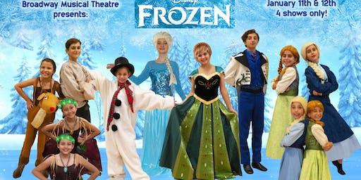 """Frozen Jr."" Cast 1 - Saturday Jan 11th at 2:00 pm"