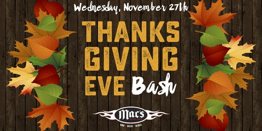 Thanksgiving Eve Bash and Highland's Cold Mountain Mac's in Greensboro!