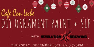 DIY Ornament Paint + Sip with REVOLUTION BREWING