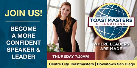 Public Speaking & Leadership; Toastmasters Meeting (Downtown, San Diego) tickets