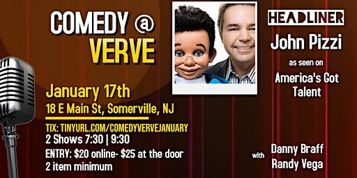 Comedy at Verve on January 17th