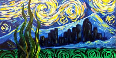 Paint Wine Denver Starry Denver Fri Jan 17th 6:30pm $35