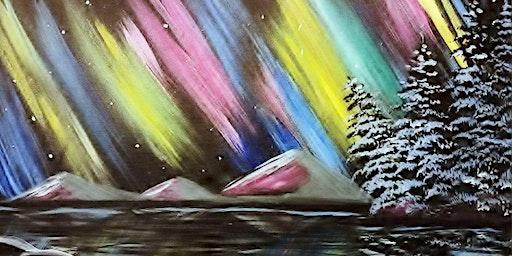 Paint Wine Denver Northern Lightshow Fri Jan 24th 6:30pm $35