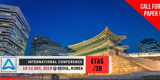39th International Conference on Engineering, Technology and Applied Science (ETAS-39)