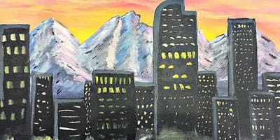 Paint Wine Denver Denver Skyline Fri Jan 31st 6:30pm $35