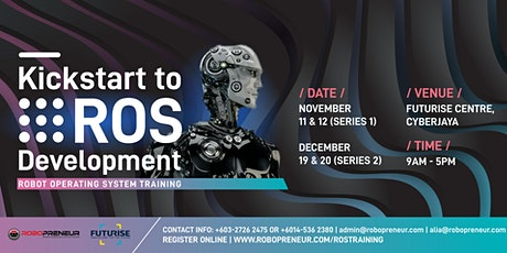 Kickstart to ROS Development (Series 2) tickets