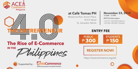 The Rise of E-Commerce in the Philippines tickets