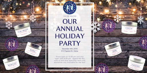 Aloha Elixir & House of Intention Holiday Popup & Party December 15th
